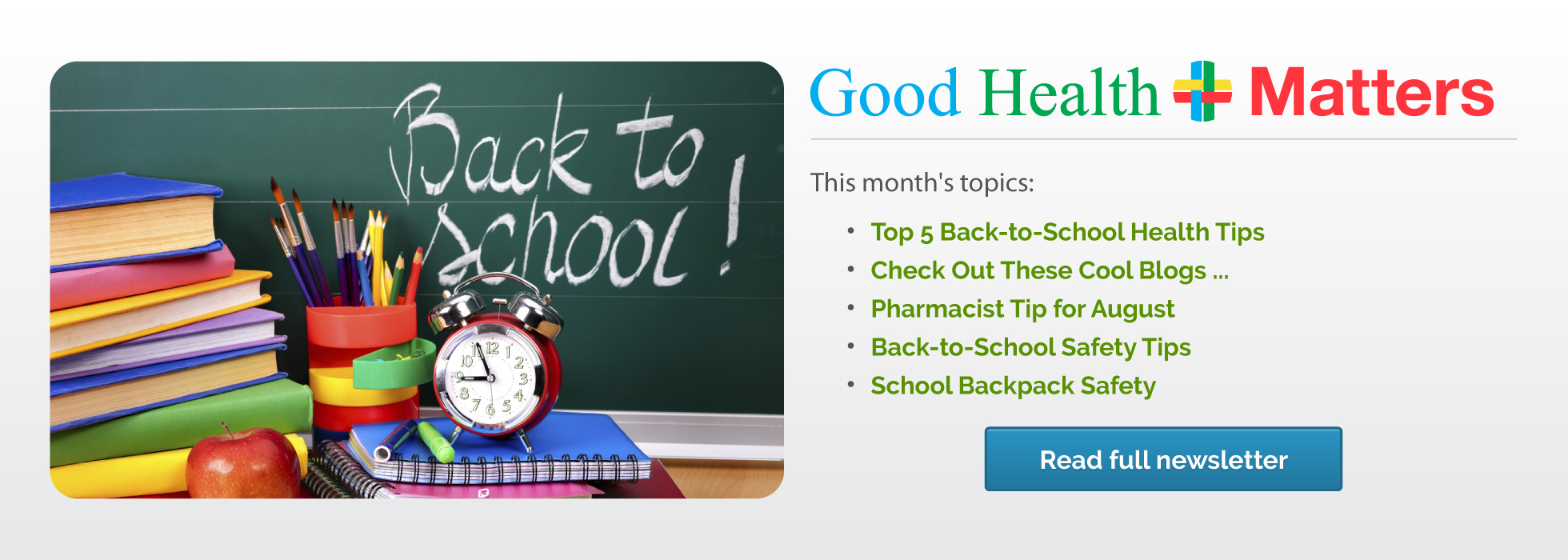 Back to School: August Newsletter